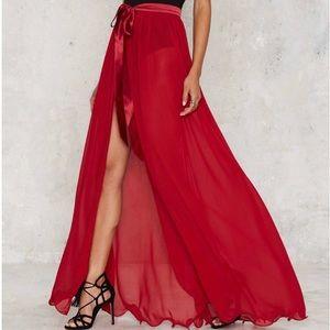 Nasty Gal Lioness Maxi Wrap Dress